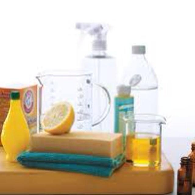 Natural cleaners work best! Vinegar, lemon juice, baking soda and essential oils!