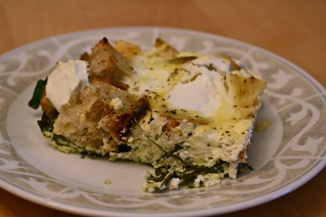 Spinach and Greek Yogurt Strata | Starting the Day Off Right | Pinter ...