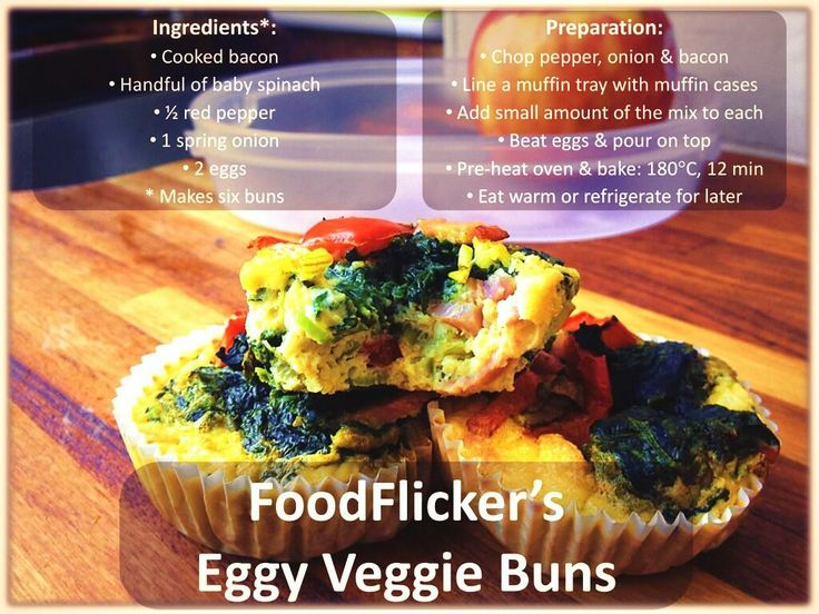 Eggy Veggie Buns: great if eaten straight away or can be stored ...