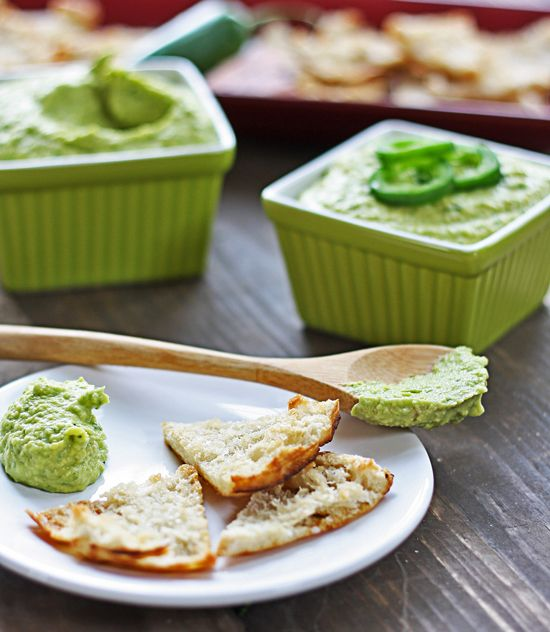 ... Jalapeno Hummus & Cilantro-Jalapeno Hummus with Avocado, from The