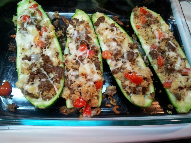 Stuffed Zucchini Boats | Favorite Recipes | Pinterest