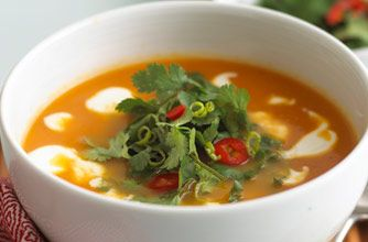 Lightly spiced carrot soup   Recipe