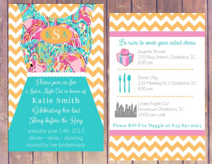 Chevron Wedding Shower/Bachelorette Party Invitation. $15.00, via Etsy ...