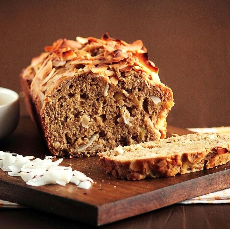 Coconut Pineapple Banana Bread | New Recipes- Bread | Pinterest