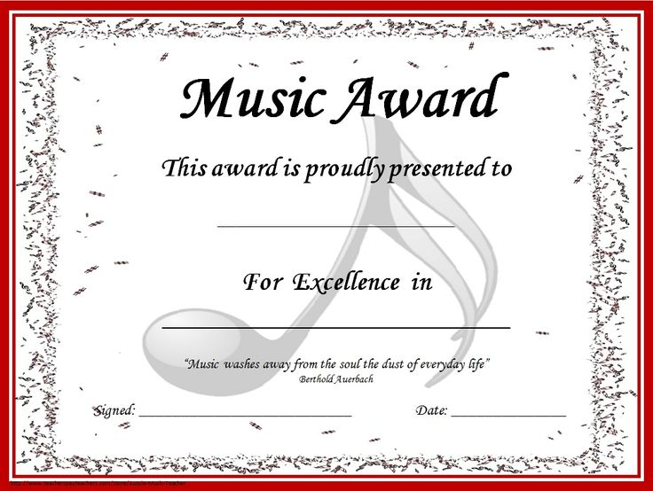 Music award certificate template yadclub Image collections