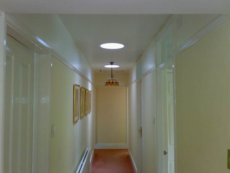 Sun tunnel in hallway hallway pinterest for Sun tunnel light