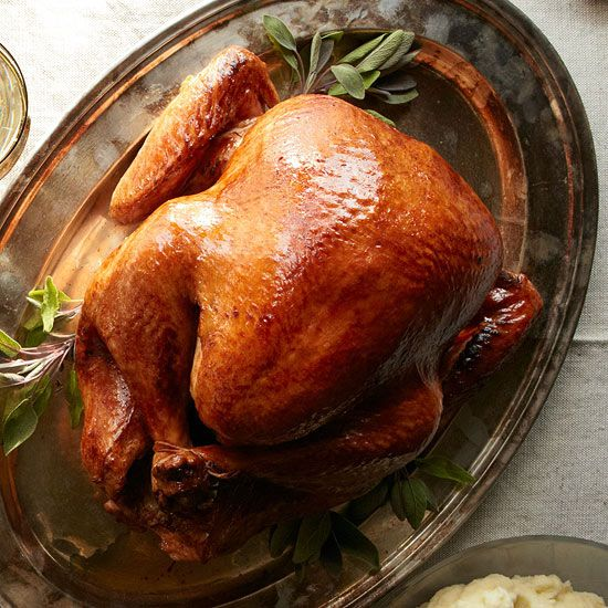 Roasted Turkey With Thyme Gravy | http://www.rachaelraymag.com/recipe ...