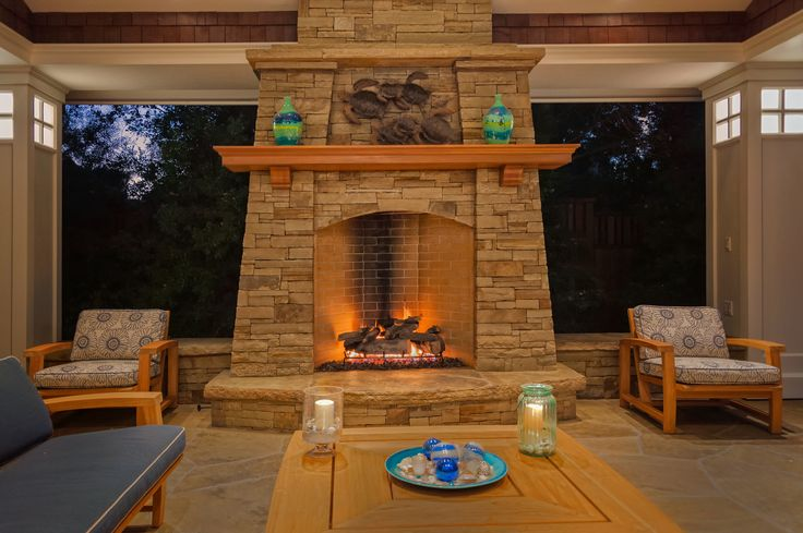 Craftsman style fireplace for Craftsman fireplaces photos
