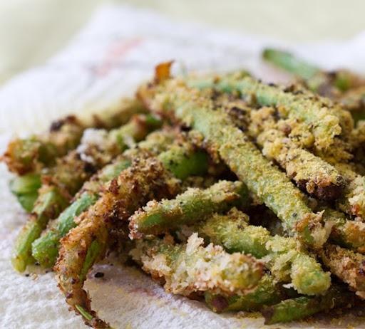 Panko Crispy Green Beans Fries #vegan | Mine | Pinterest