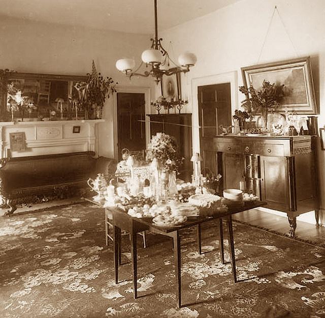 "Dining room Prentiss House 1890's""   Victorian interiors   Pinterest"