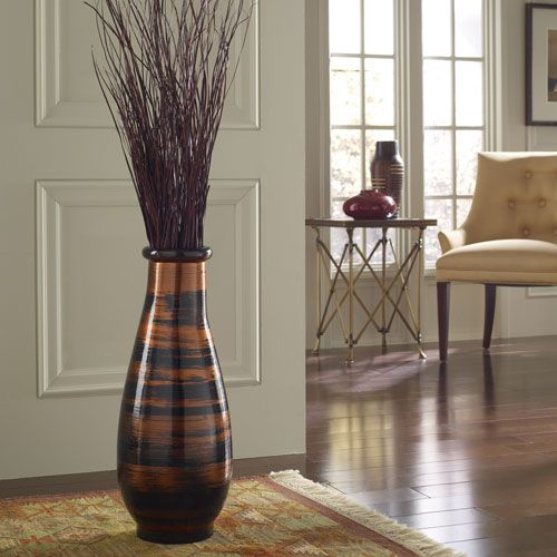 copperworks small floor vase polivaz vases vases home decor