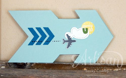 We love the idea of making shaped cards, and this one is awesome.