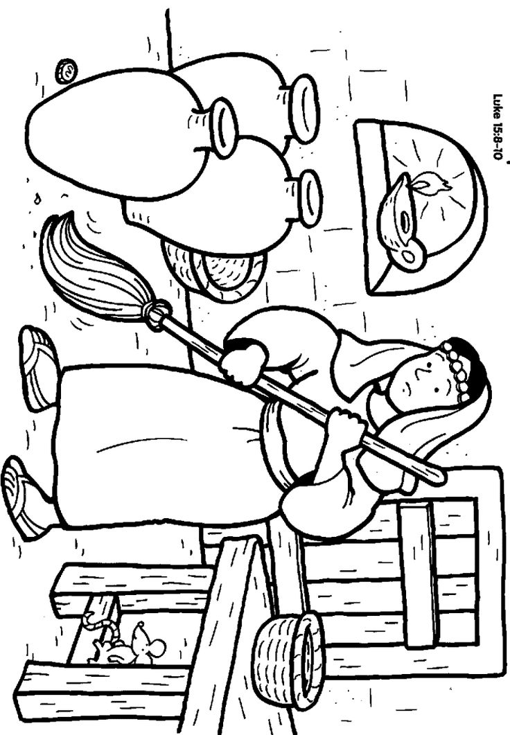 Lost Coin The Lost Coin Coloring Pages Parables Parables Of Jesus Coloring Pages