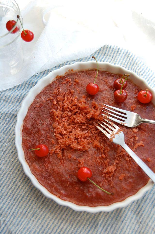 Sour Cherry Granita Recipe — Dishmaps
