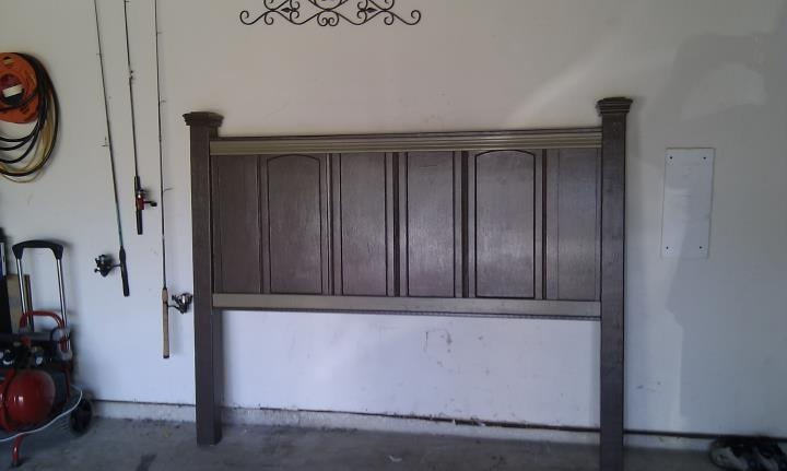 Headboard made out of old cabinet doors crafty things - Cabinet made from old doors ...