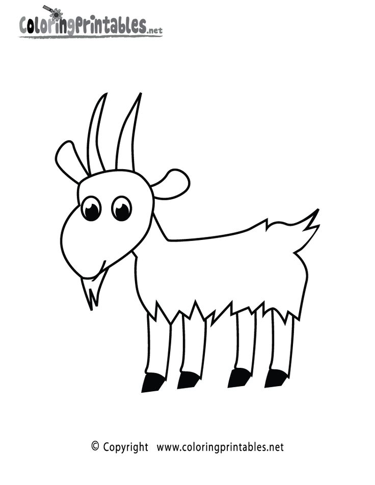 Goat Coloring Page Printable
