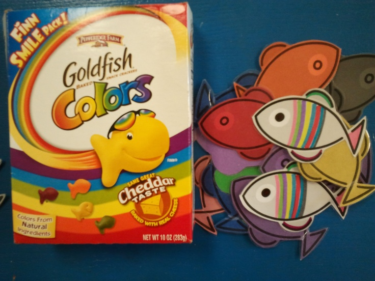 Gold fish color recognition game kindergarten pinterest for Gold fish card game