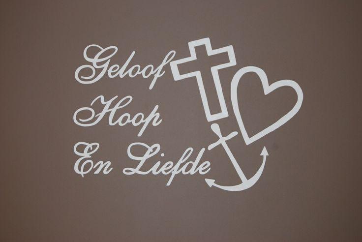 geloof hoop liefde wonen pinterest