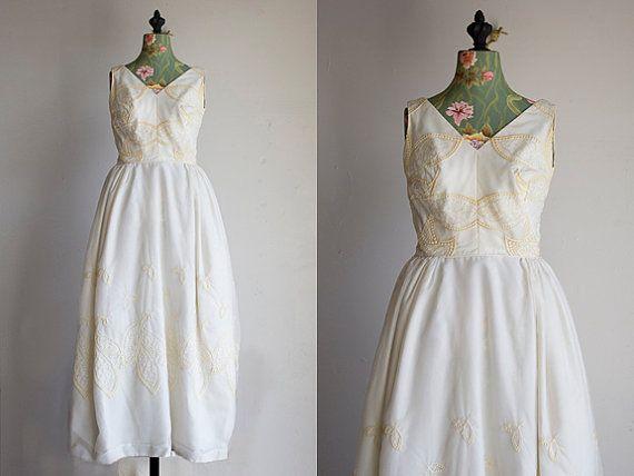 Cream puff wedding dress s off white bridal by goldbanana
