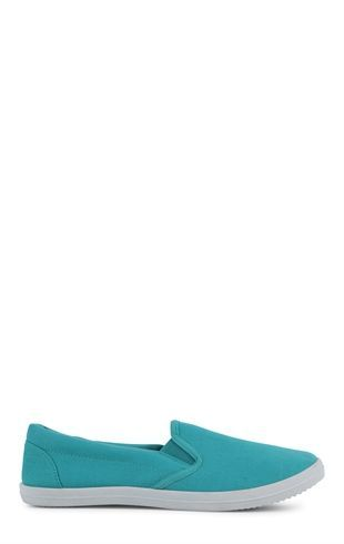 Deb Shops Flat Slip On Shoe with Elastic