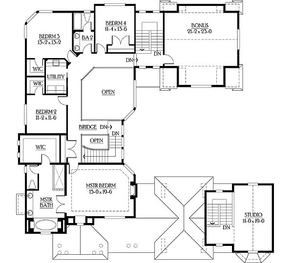 u shaped courtyard home plans luxury craftsman