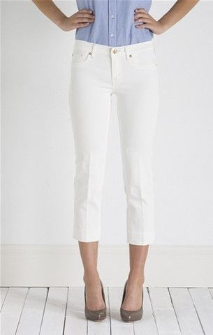 henry and belle-cropped straight leg-parchment - Altitude Designer