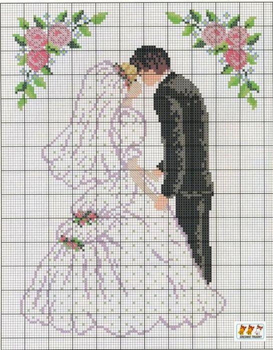 Вышивка крестом свадеб