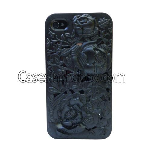 Avant-garde Protective Hard Back Case for iPhone 4/4S - Black US$5.69
