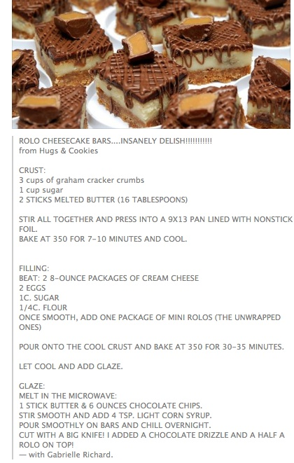 Rolo Cheesecake Bars | Recipes ~ Desserts - Cookies & Bars | Pinterest