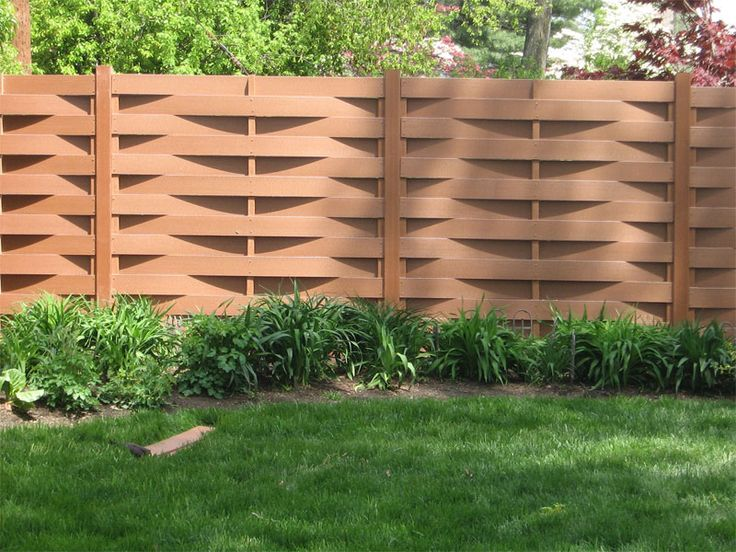 Horizontal fence design idea deck yard and garden for Fence ideas