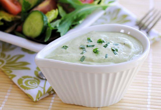 Basil Green Goddess Salad Dressing | Recipes | Pinterest