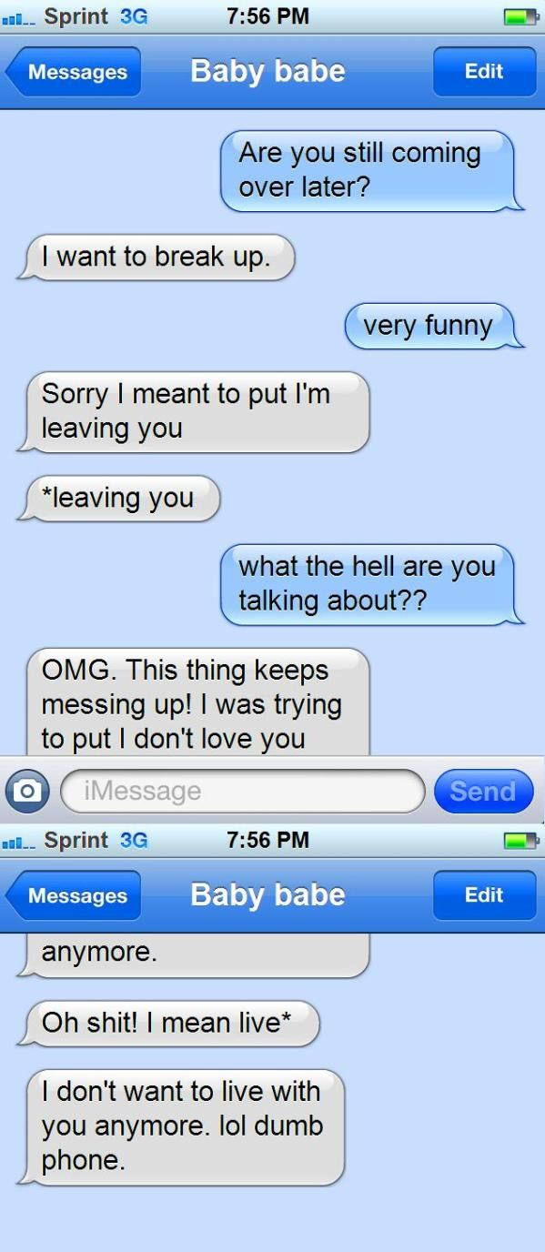 Search results for funny text messages gone wrong
