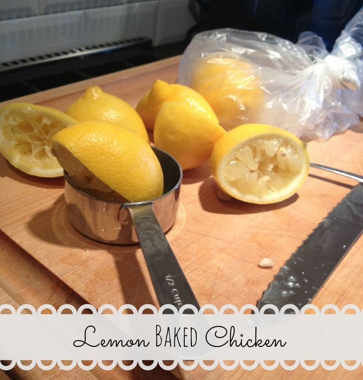 Light, fragrant, and delicious! Lemon baked chicken - super easy for a ...