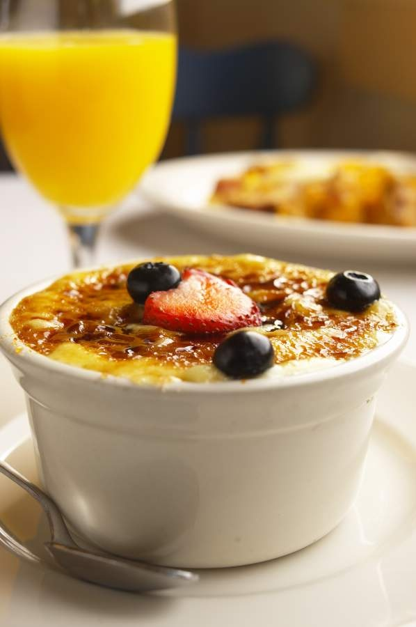 Creme Brule Oatmeal served with cinnamon crepe chips, from Simply ...
