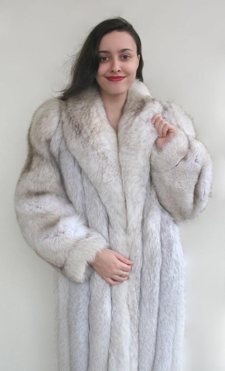 Blue Fox Fur Coat Full Length Fur One Day Pinterest