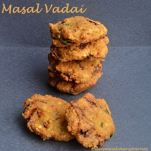 Divya's culinary journey: Masal Vadai / Spicy Lentil Fritters
