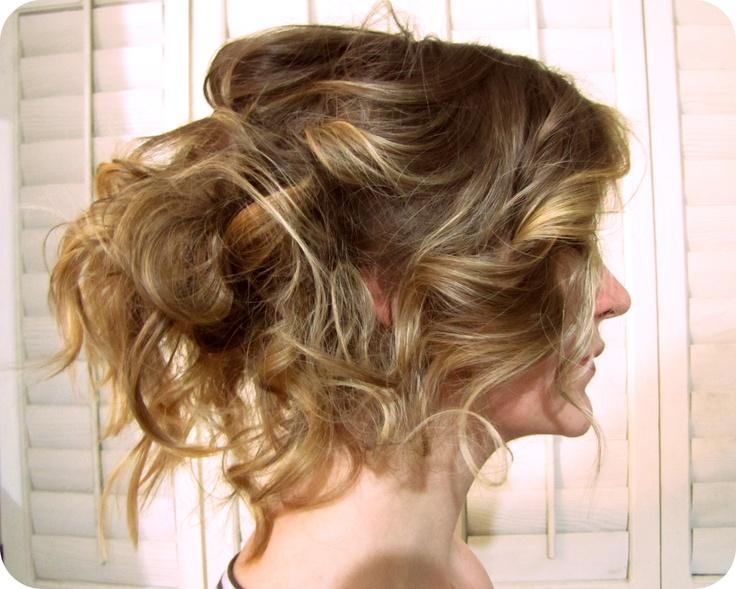 Bohemian Loose Curl Updo | Wedding Inspiration | Pinterest