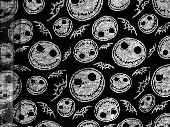 Nightmare Before Christmas Jack Skellington Jersey Knit Fabric ...