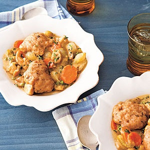 Lightened-Up Chicken and Dumplings #recipe
