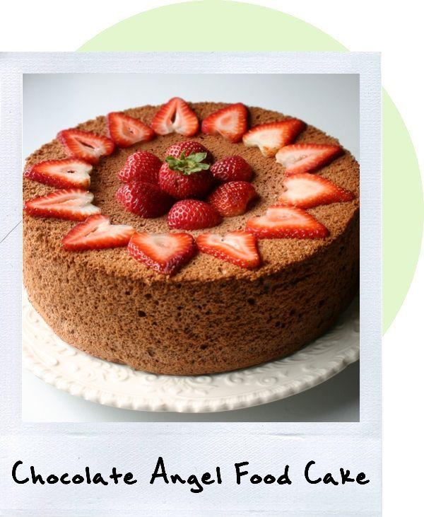 Chocolate Angel Food Cake | Cakes! | Pinterest