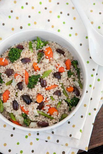 Broccoli & Parmesan Israeli Couscous Recipe — Dishmaps