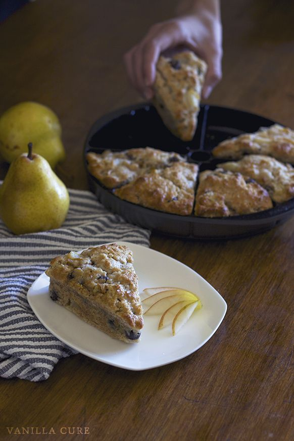 Salted Pear and Dark Chocolate Scones Recipe - The perfect scone ...
