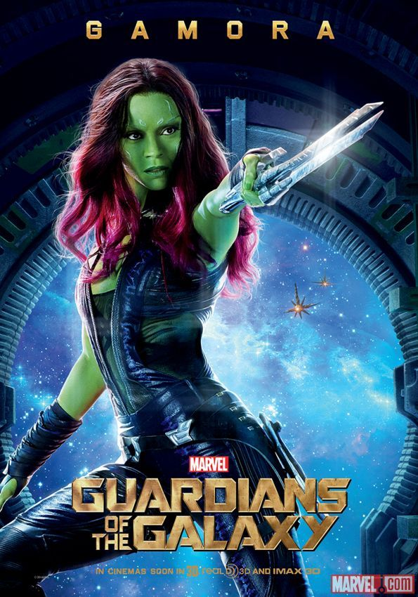 """Gamora international poster for Marvel's """"Guardians of the Galaxy"""""""
