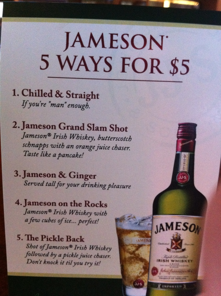 Jameson drinks alcohol pinterest for Jameson mixed drinks recipes