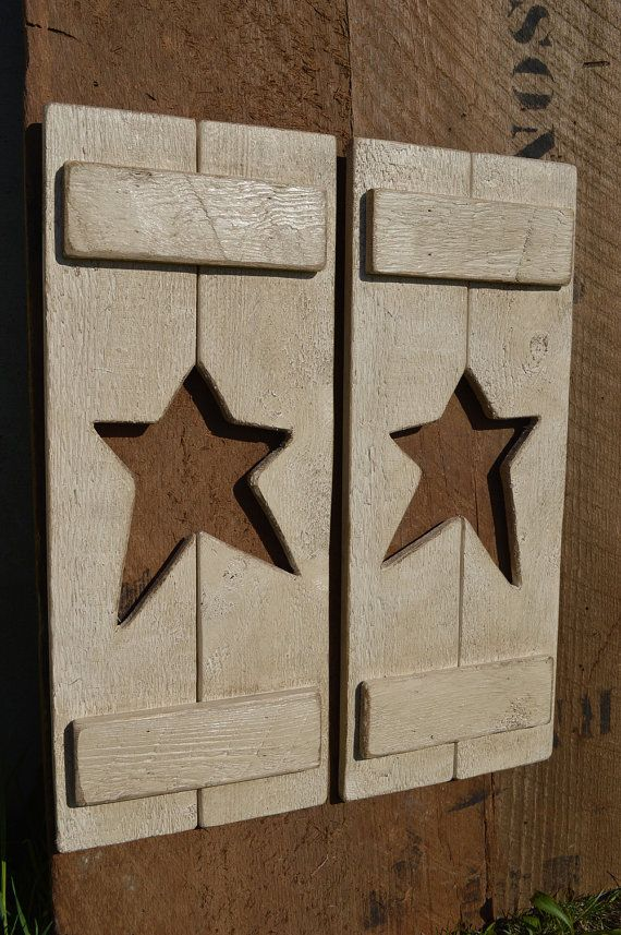 Country Star Shutters Wall Hanging