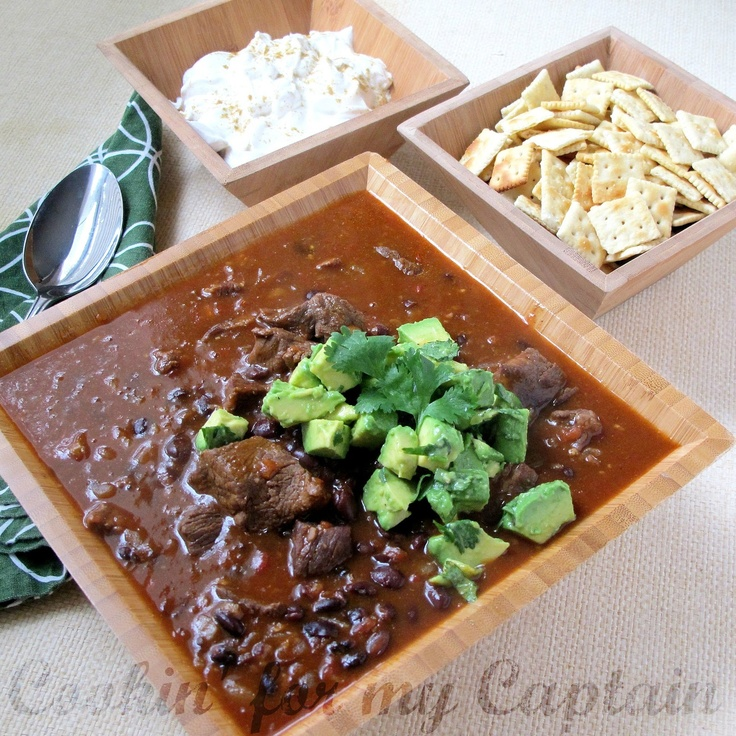 Beef & Black Bean Chili | Soups, Chilis, and Stews | Pinterest