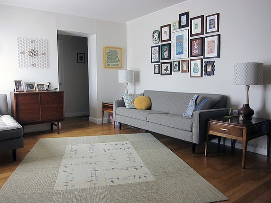 Modern retro living room wall decor retro vintage mid century pin