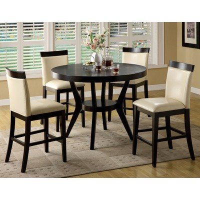 Height Dining Table And Four Counter Height Dining Chairs