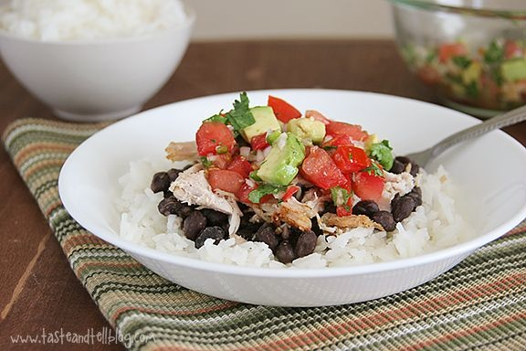 Slow-Cooker Pork Burrito Bowls from Taste and Tell