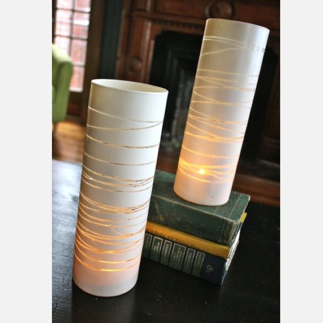 vase rubber bands spray paint crafts pinterest. Black Bedroom Furniture Sets. Home Design Ideas